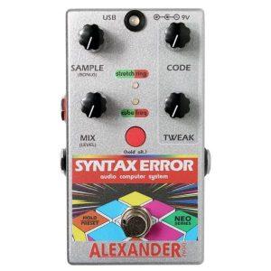 Alexander Syntax Error