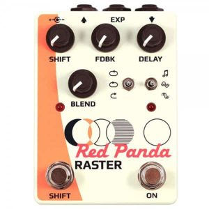 Red Panda Raster Digital Delay and Pitch Shift pedal